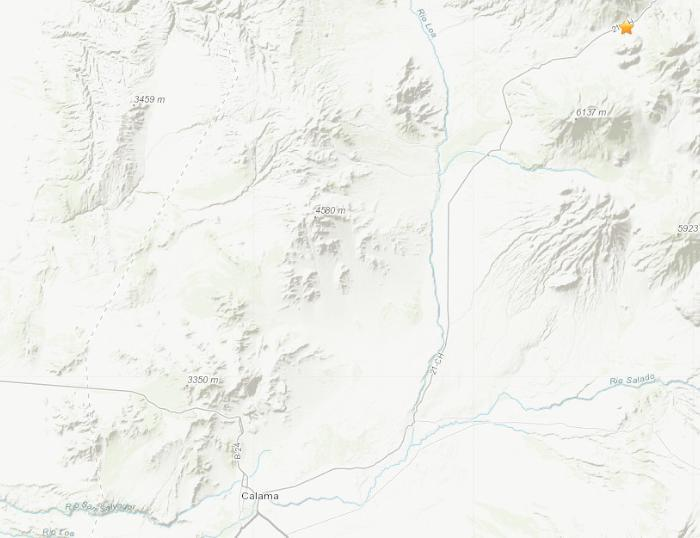 智利东北地区发生5.1级地震震源深度114.8公里