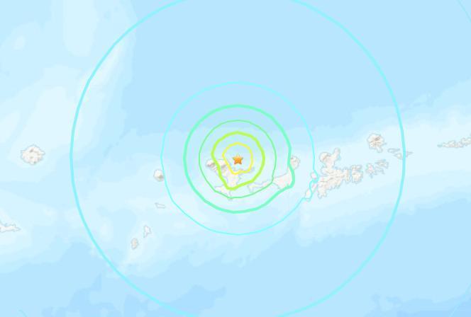 美阿拉斯加附近海域發生6.2級地震震源深度10公里