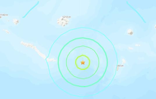 美阿拉斯加附近海域发生6.1级地震震源深度27.1千米
