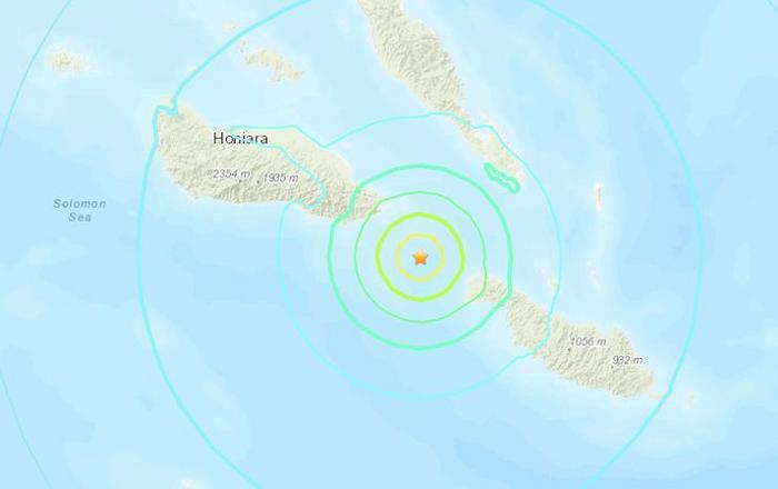 美国地质勘探局:所罗门群岛附近海域发生6.3级地震