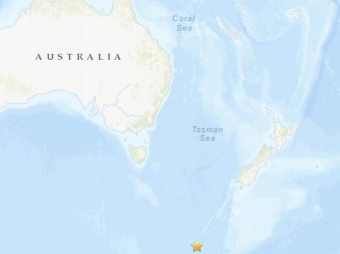 澳大利亚部东南部海域发生5.6级地震震源深度10公里