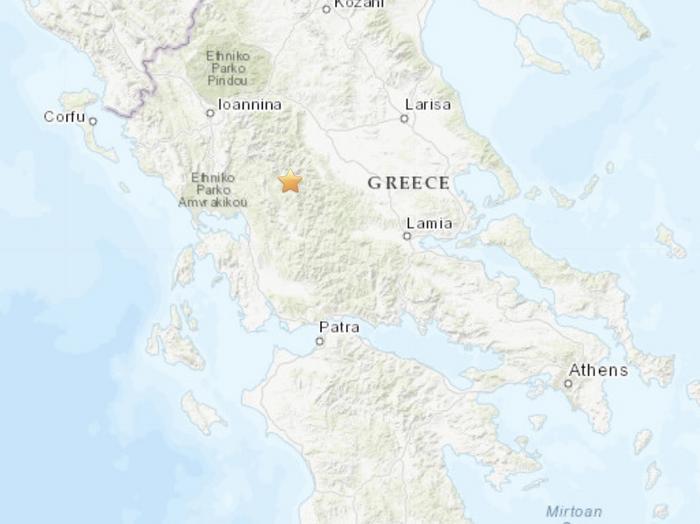 美国地址勘探局:希腊西部地区发生5.2级地震