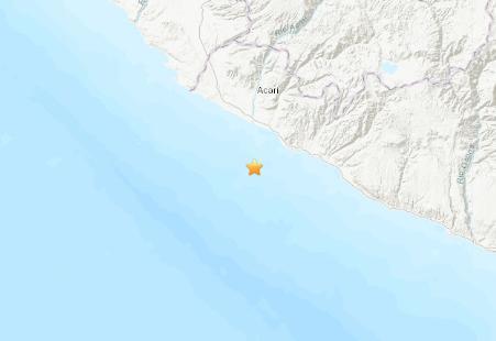 美国地质勘探局:秘鲁附近海域发生5.0级地震