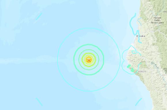 美国地质勘探局:美国加州附近海域发生5.9级地震