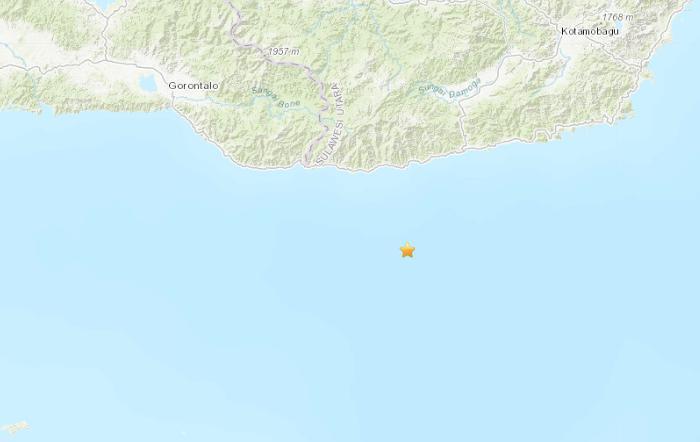 印尼苏拉威西岛附近海域发生5.9级地震
