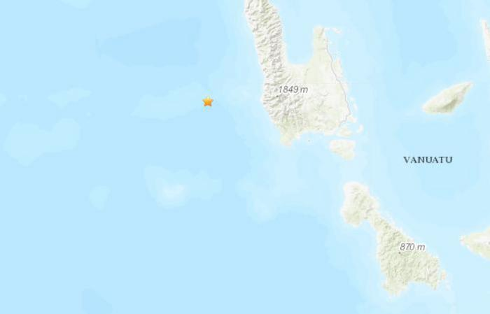 瓦努阿图西部海域于北京时间7月22日15时30分许发生5.1级地震