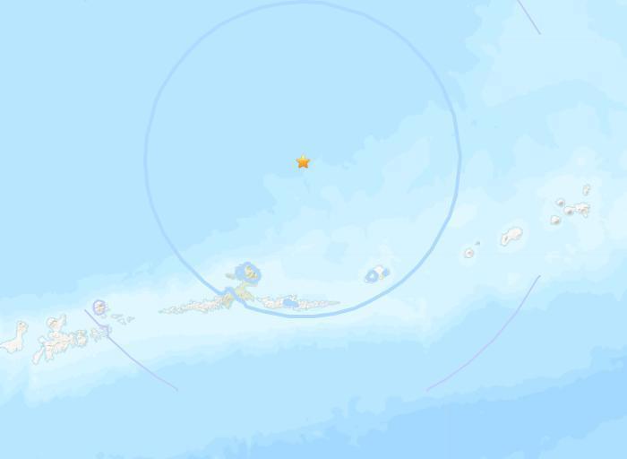 美阿拉斯加州附近海域5.4级地震震源深度234公里
