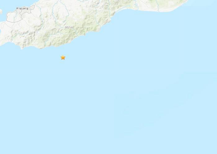 印尼南部沿海地区发生5.1级地震震源深度10公里