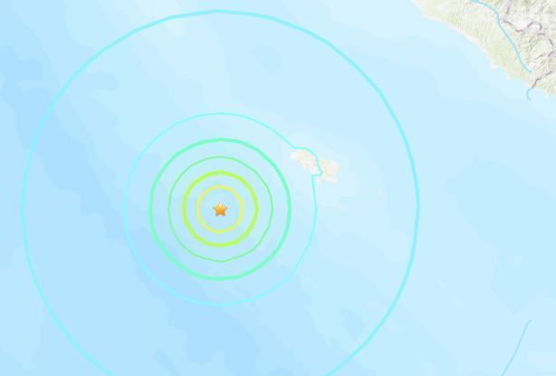 印尼苏门答腊岛南部海域发生6.2级地震震源深度10千米