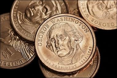 美国/美国一美元新硬币。