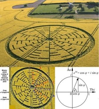 英发现完美结合乐谱与数学公式的麦田怪圈(图)