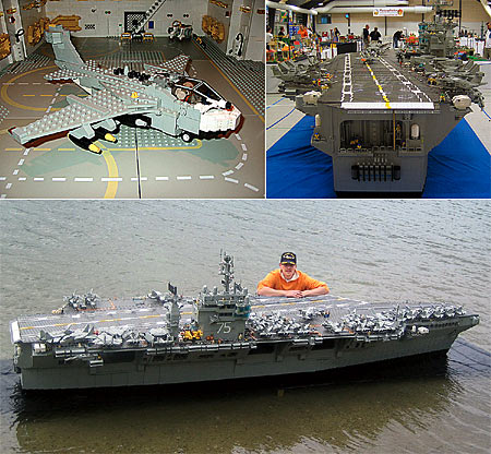 装成航空母舰模型(图)