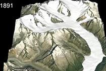 瑞士冰川快速消融 新老图像对比鲜明