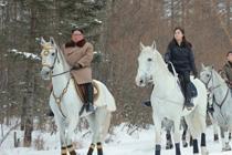金正恩骑白马驰骋林海雪原公布视频