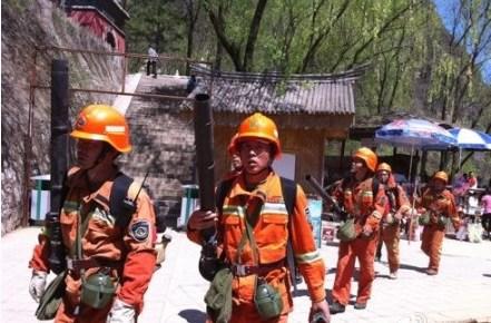北京延庆龙庆峡风景区发生山火 暂无人员伤亡(图)