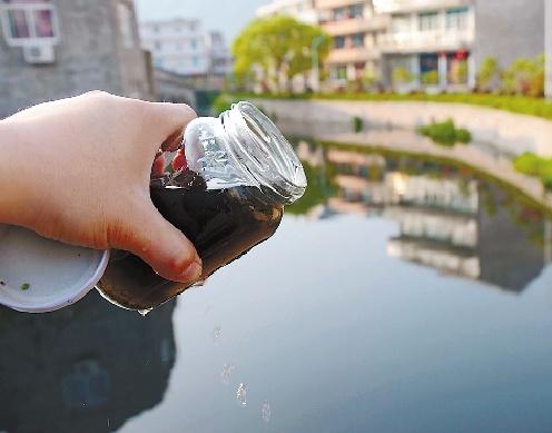 浙江温岭一河流氨氮超标五倍河水黑臭如墨汁(图)