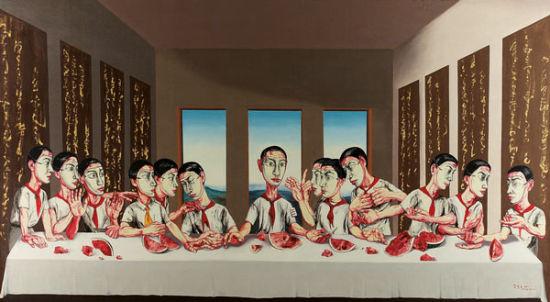 曾梵志作品拍1.8亿港元成亚洲最贵当代艺术品(图)