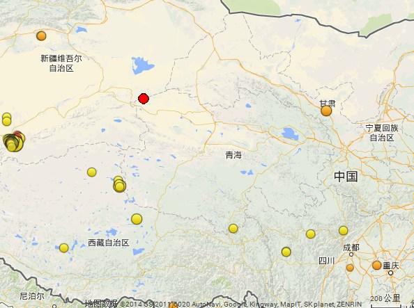 2月25日10时在青海省海西蒙古族藏族自治州茫崖行政