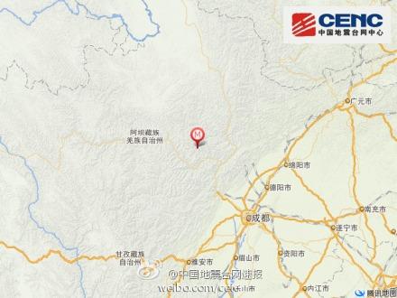 四川阿坝州理县发生4.8级地震成都震感强烈(图)