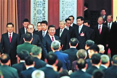 三任总书记出席国庆招待会(图)