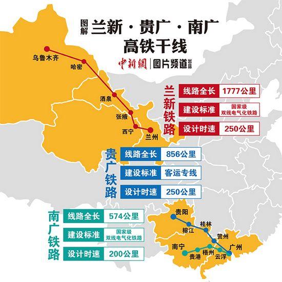 """中国""""高铁版图""""再扩容 三条重要高铁今日开通"""