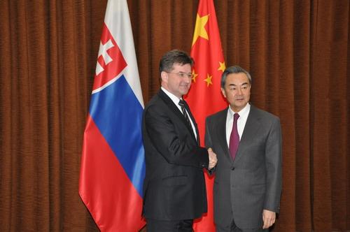 王毅与斯洛伐克副总理兼外长莱恰克举行会谈