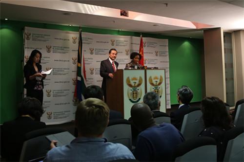 南非总统祖马会见中国外交部长王毅