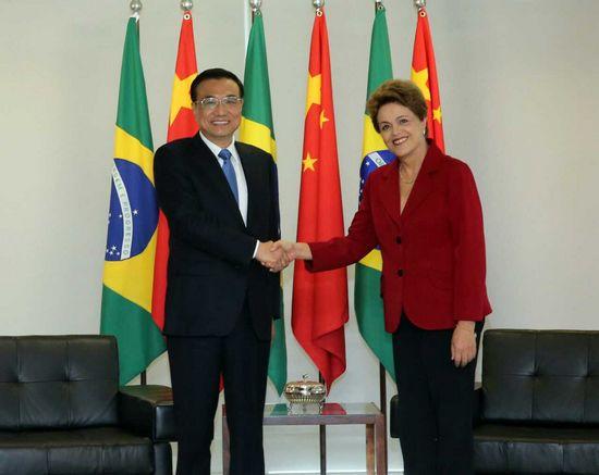 李克强同巴西总统罗塞夫会谈:打造中巴互利合作升级版