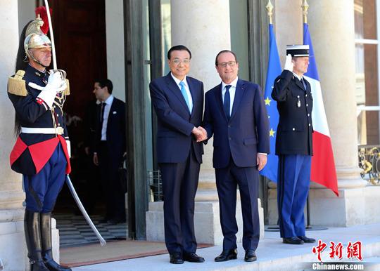 李克强会见法国总统奥朗德:联合开拓第三方市场