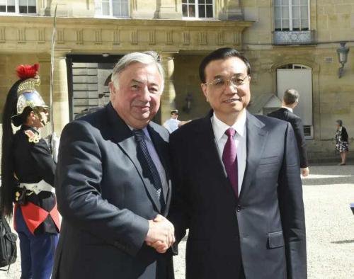 李克强:希望法国参议院支持中法开展三方合作