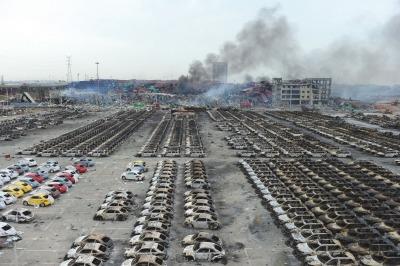 天津爆炸受损车流入拍卖市场550辆进口车被拍