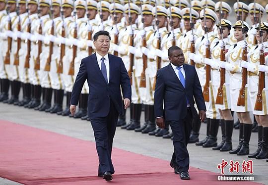 """习近平同莫桑比克总统会谈中莫关系提升为""""全面战略合作伙伴"""""""