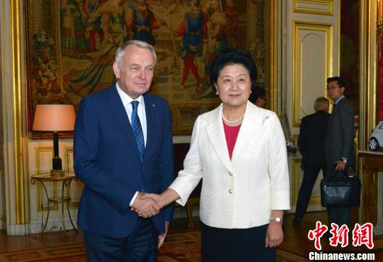 刘延东和法国外长共同主持中法高级别人文交流机制第三次会议