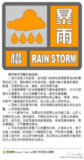 北京升级发布暴雨橙色预警局地累计降水量将超200毫米