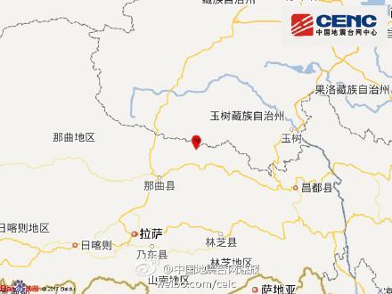 西藏那曲地区巴青县发生3.0级地震震源深度7千米