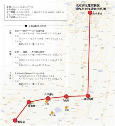 北京至雄安新区将开行动车组列车 运行时间约80分钟