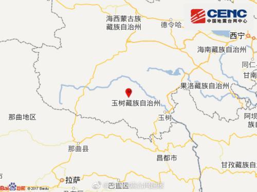 青海玉树州治多县发生3.6级地震震源深度10千米