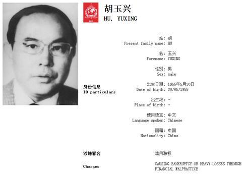 """外逃16年""""百名红通人员""""胡玉兴回国投案"""