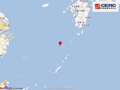 东海海域发生6.0级地震震源深度230千米