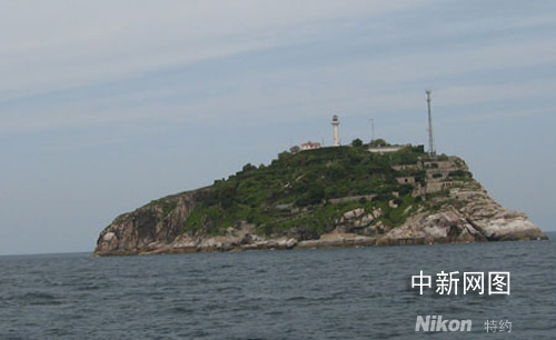 江苏沿海离大陆最远的海岛前三岛之一的车牛山岛.