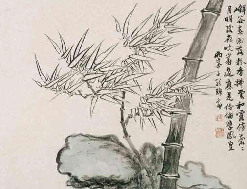 铅笔画竹子画步骤图片