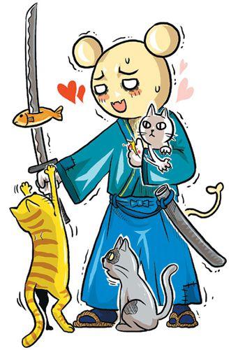 萌猫闯江湖:像我这样爱动物-中新网
