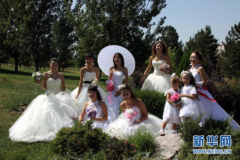 哈萨克斯坦婚礼图片