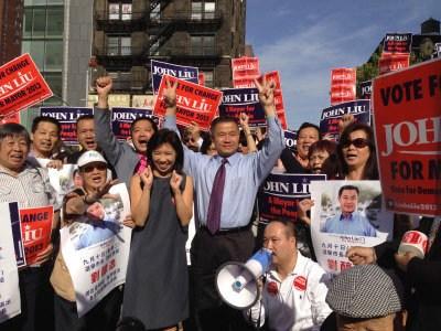 纽约市长华裔候选人全市五区造势盼创造历史(图)