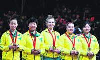 英联邦运动会澳洲夺乒球女子团体铜牌华裔贡献大