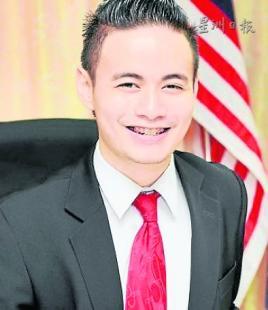 大马登州首位华裔候选人周世文参选青年国会议员