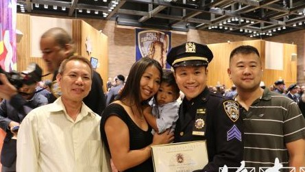 纽约市警总局举办升职典礼3名华裔警员获晋升