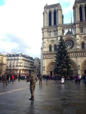 华裔在巴黎:到处是警察店铺冷清游客大减(图)
