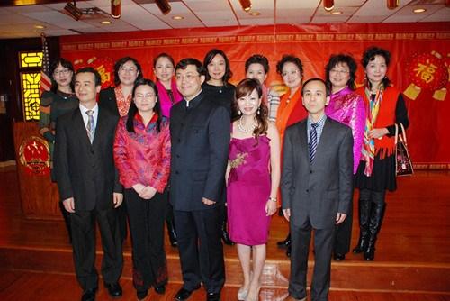 中国驻芝加哥总领馆举办侨学界春节招待会(图)