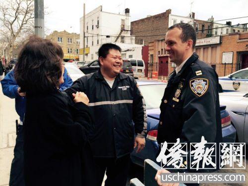 纽约市警66分局新任局长走访华社愿展开合作